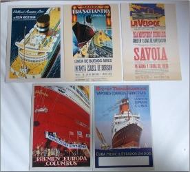 5 carti postale de colectie - Nave maritime TRANSATLANTICE (1)
