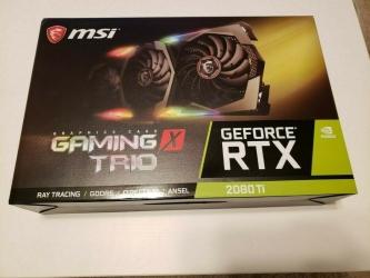 For sale MSI GeForce RTX 2080 Ti GAMING X TRIO