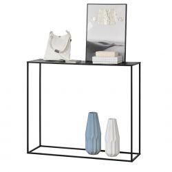 Masa consola Amanda, 109,5 x 31,5c x 94,5 cm, metal, negru