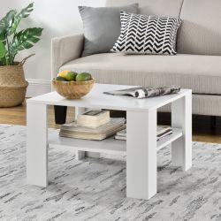 Masuta cafea Carin, 60 x 60 x 40 cm, placa fibra lemnoasa, alb