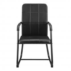 Scaun birou Lisa, 92 x 49 x 57 cm, PVC/otel sinterizat, negru