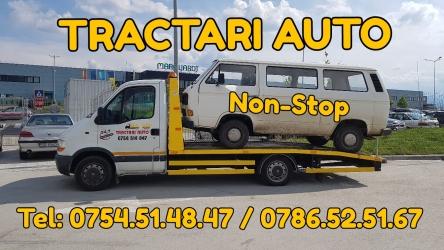 Tractari auto, platforma accidente, non stop