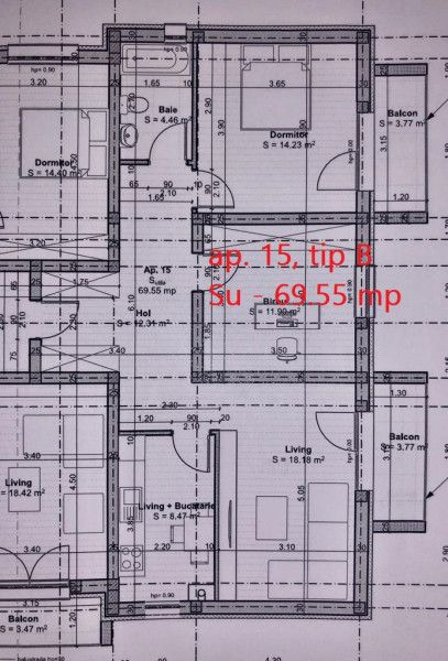 3 camere de vanzare 2 balcoane in GIROC - ID V62-5