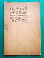 Academia Libera de Arte Frumoase, M. Georgescu, 1931