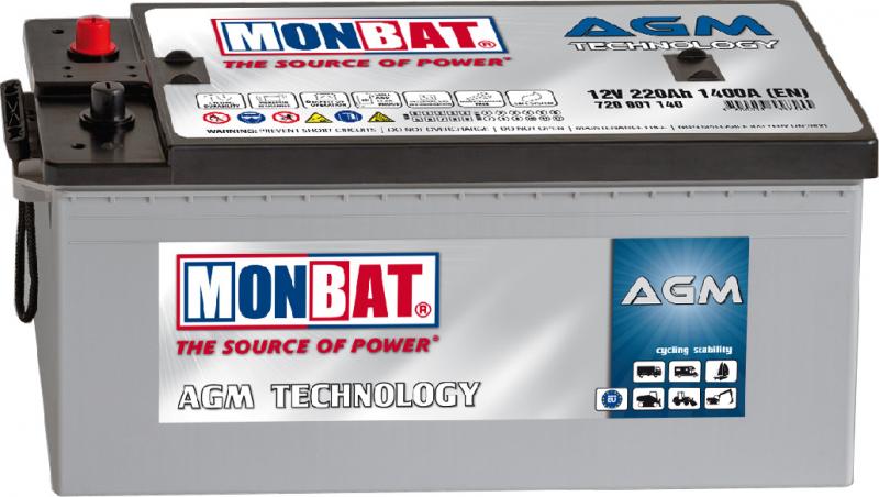 Acumulator solar AGM Monbat MEGALIGHT 12V/220Ah-2