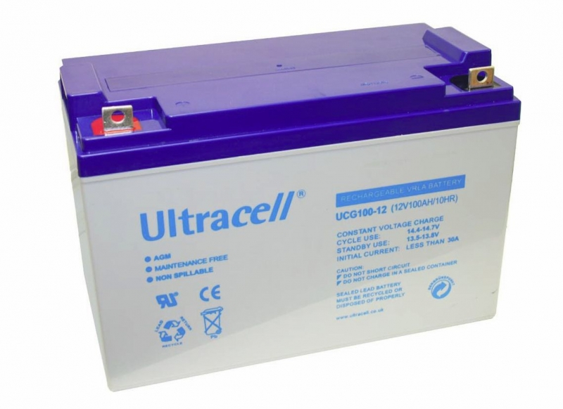 Acumulator VRLA Ultracell cu GEL 12V, 100Ah-2