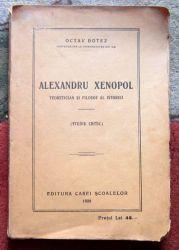 Alexandru Xenopol, Octav Botez, 1921, Autograf