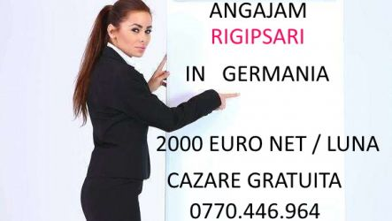 Angajam rigipsar in Germania-2000 euro net