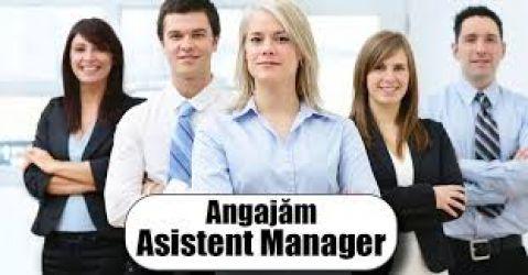 Angajez asistent manager