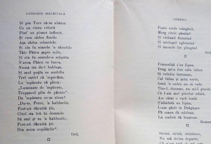 Antologie Dialectala, Ovid Densusianu, 1915-4