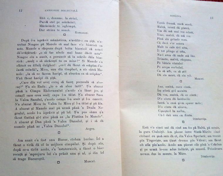 Antologie Dialectala, Ovid Densusianu, 1915-5