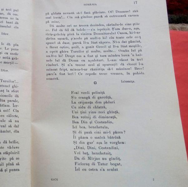 Antologie Dialectala, Ovid Densusianu, 1915-6