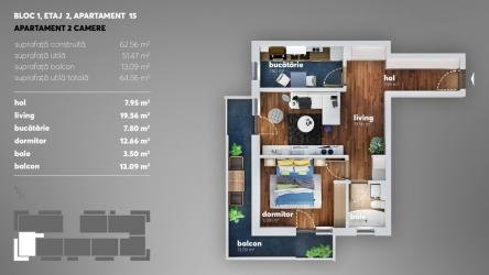 Apartament 2 camere Bulevardul Metalurgiei -Metro