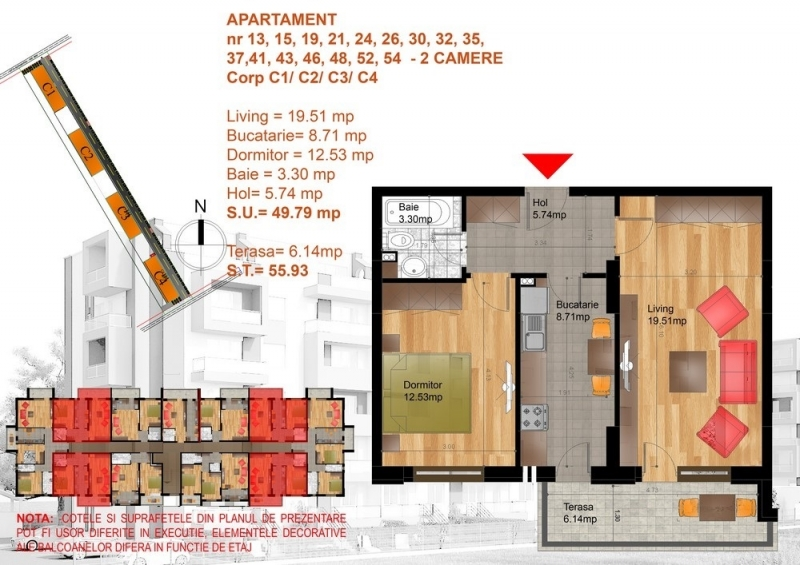 Apartament 2 camere modern, etaj 1, imobil nou,metrou dimitrie leonida-1