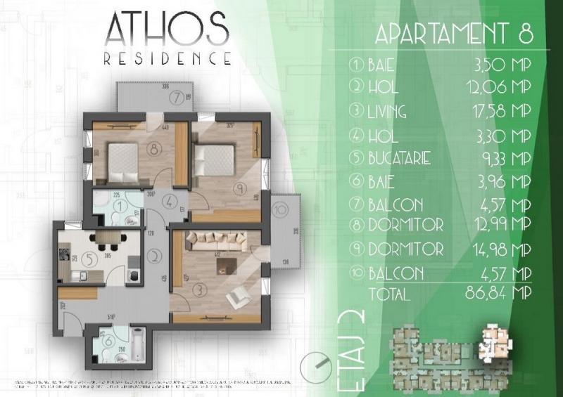 Apartament 3 camere - Sector 4 - Metrou Aparatorii Patriei-2