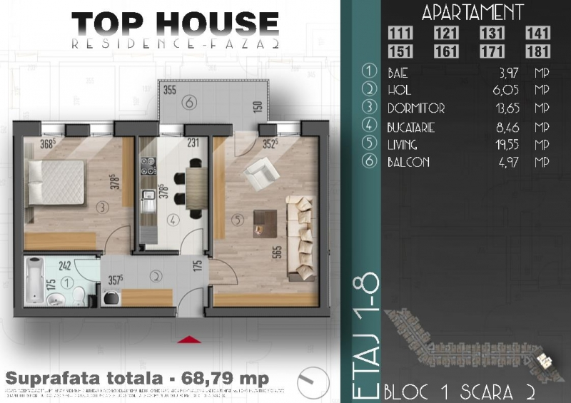 Apartament cu 2 camere la cheie, decomandat, stradal la bulevard-3