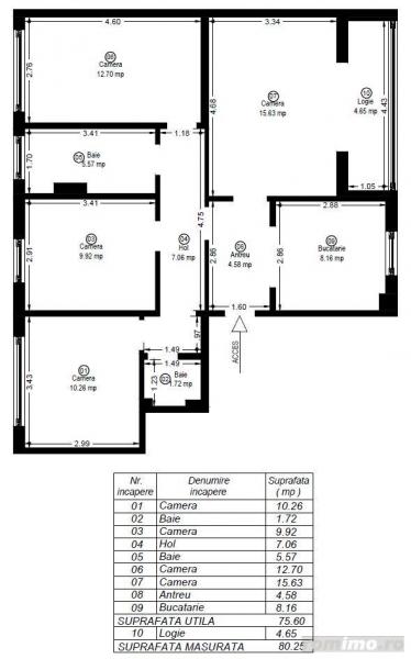 Apartament cu 4 camere in zona Circumvalatiunii la 114.000 euro-9