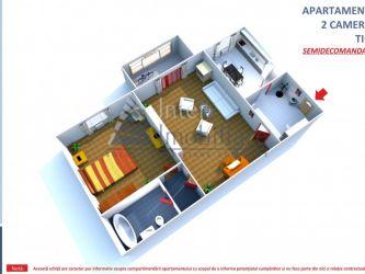 Apartament de vanzare, 2 camere Semidecomandat  Metalurgie