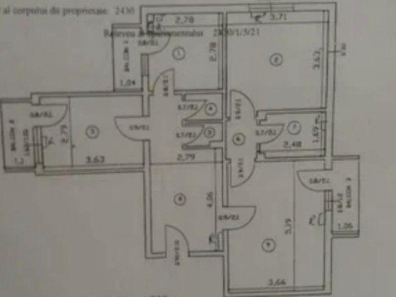 Apartament de vanzare, 3 camere Decomandat  Frumoasa -12