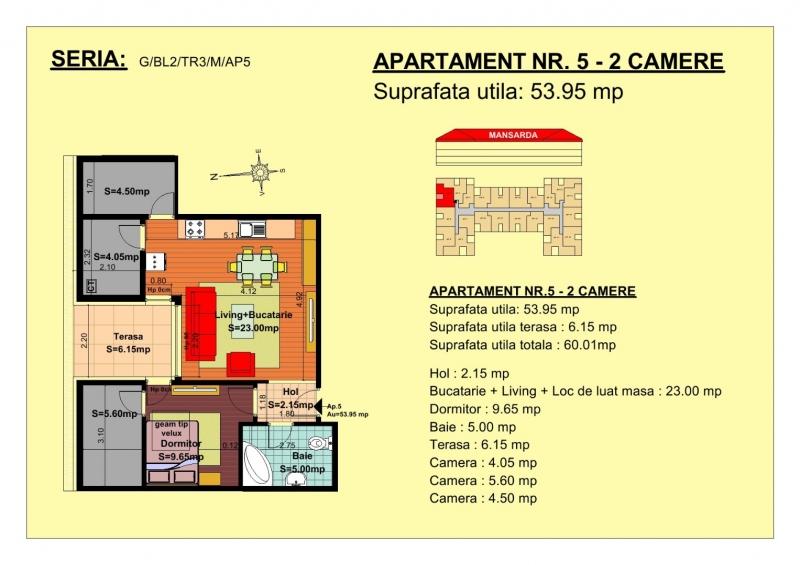 Apartament de vanzare la mansarda -4