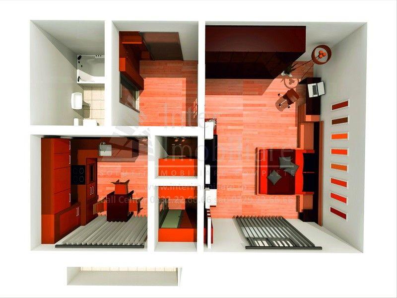 Apartament de vanzare, o camera Decomandat  Pacurari -6