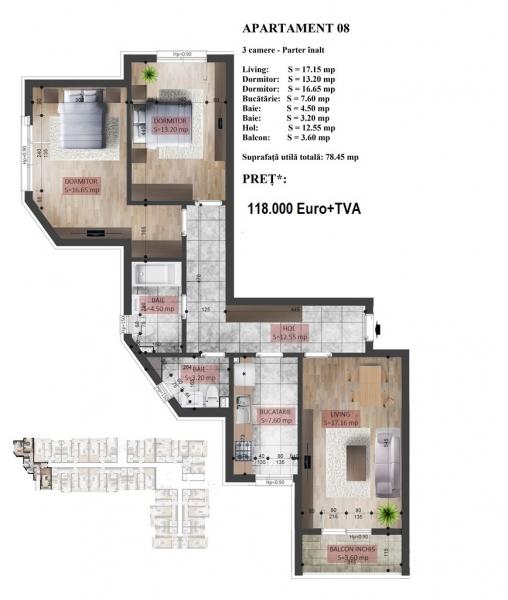 Apartament finalizat 2018, Mihai Bravu-Kaufland-1