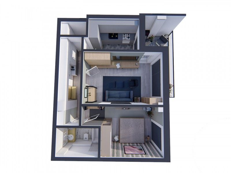 Apartament nou de vanzare, 2 camere Decomandat  Bucium -13