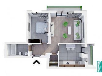 Apartament nou de vanzare, 2 camere Decomandat  Bucium