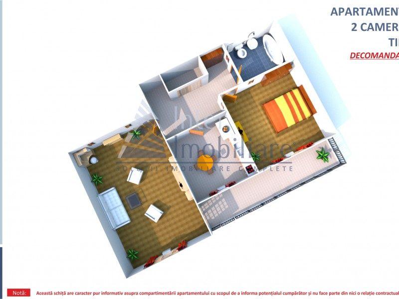 Apartament nou de vanzare, 2 camere Decomandat  Bucium -1
