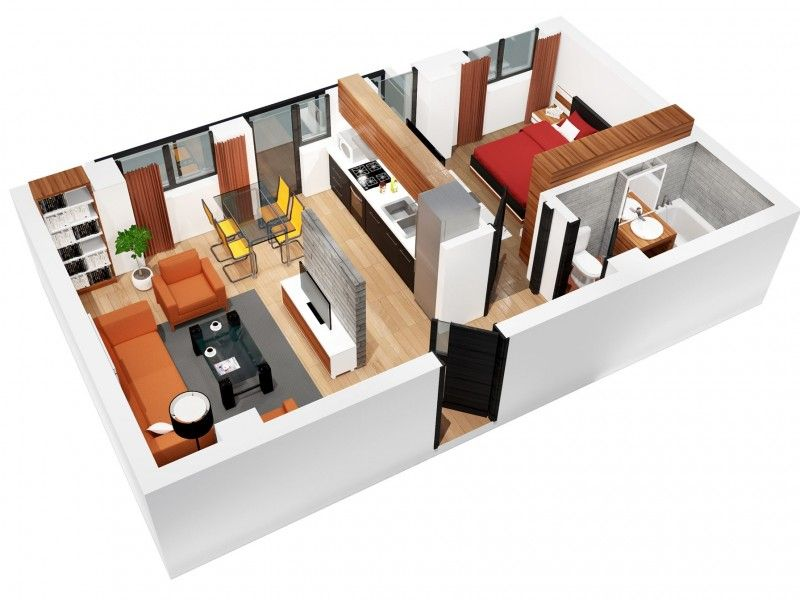 Apartament nou de vanzare, 2 camere Decomandat  CUG -4