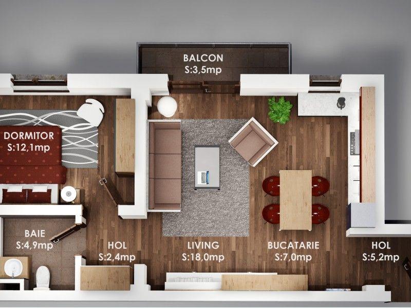Apartament nou de vanzare, 2 camere Decomandat  Pacurari -1