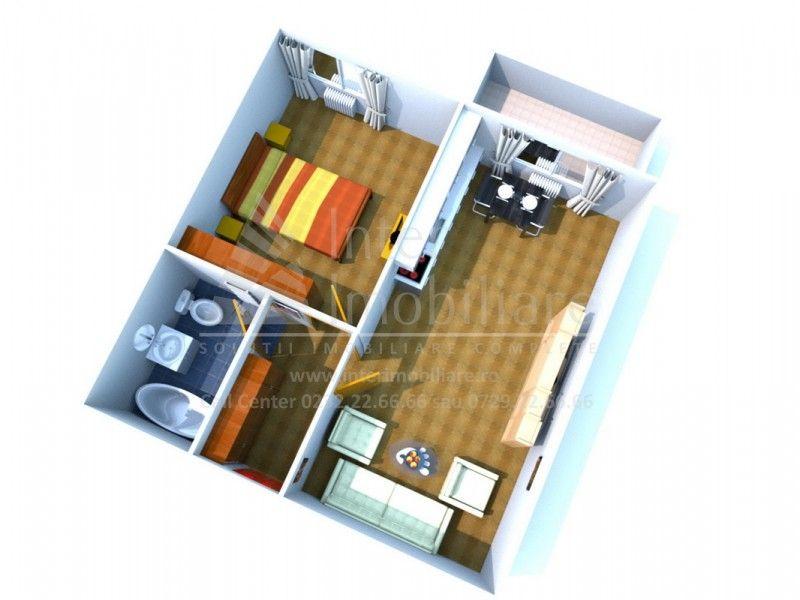 Apartament nou de vanzare, 2 camere Semidecomandat  Bucium -1