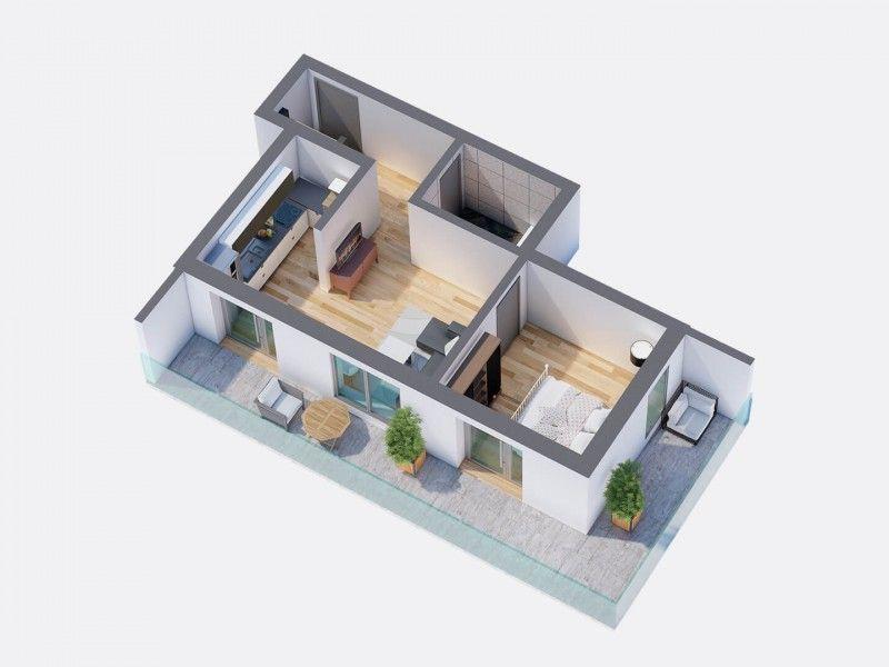 Apartament nou de vanzare, 2 camere Semidecomandat  Pacurari -1