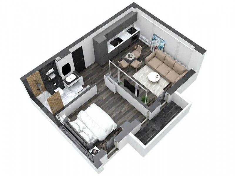 Apartament nou de vanzare, 2 camere Semidecomandat  Pacurari -7