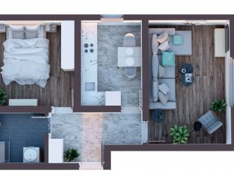 Apartament nou de vanzare, 2 camere Semidecomandat  Poitiers