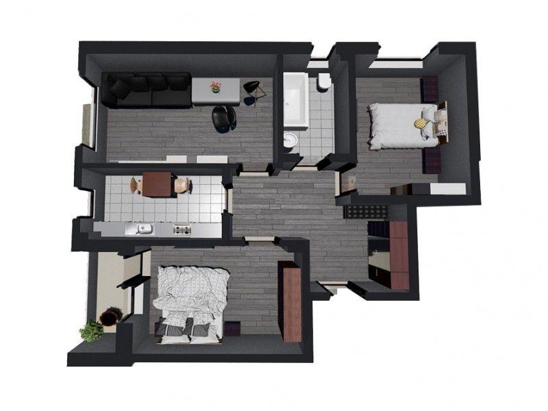 Apartament nou de vanzare, 3 camere Decomandat  Bucium -12