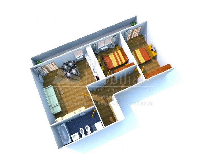 Apartament nou de vanzare, 3 camere Decomandat  Copou -1