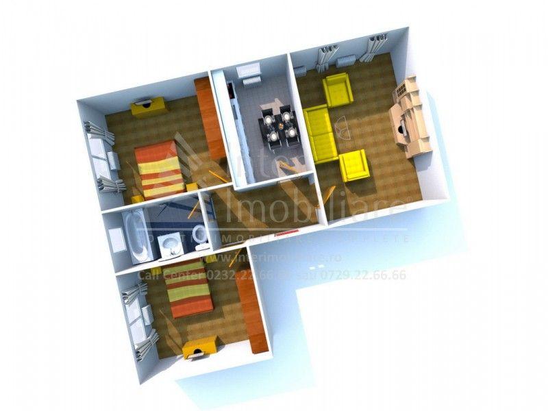 Apartament nou de vanzare, 3 camere Decomandat  Galata -1