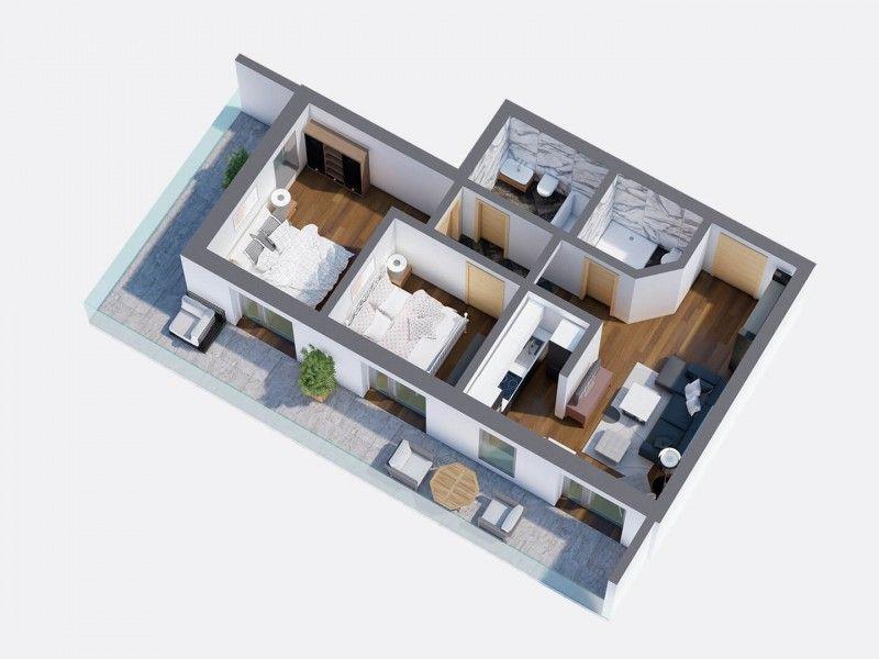 Apartament nou de vanzare, 3 camere Decomandat  Pacurari -1