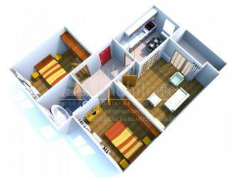 Apartament nou de vanzare, 3 camere Decomandat  Pacurari