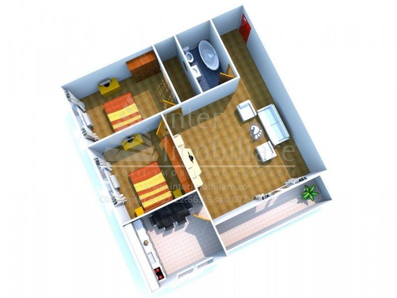 Apartament nou de vanzare, 3 camere Decomandat  Pacurari -9