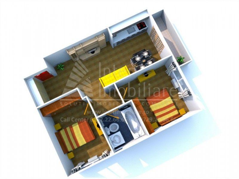 Apartament nou de vanzare, 3 camere Semidecomandat  Bucium -2