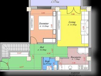 Apartament nou de vanzare, 4 camere Decomandat  Pacurari