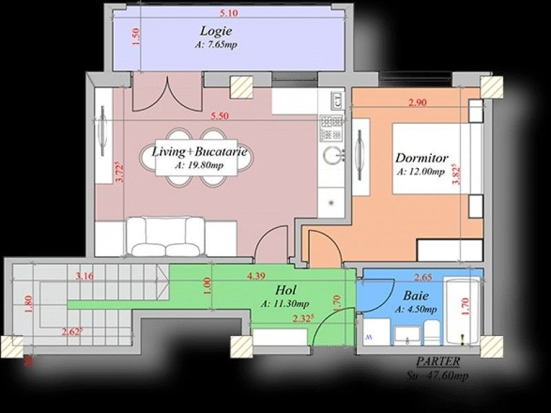 Apartament nou de vanzare, 4 camere Decomandat  Pacurari -2