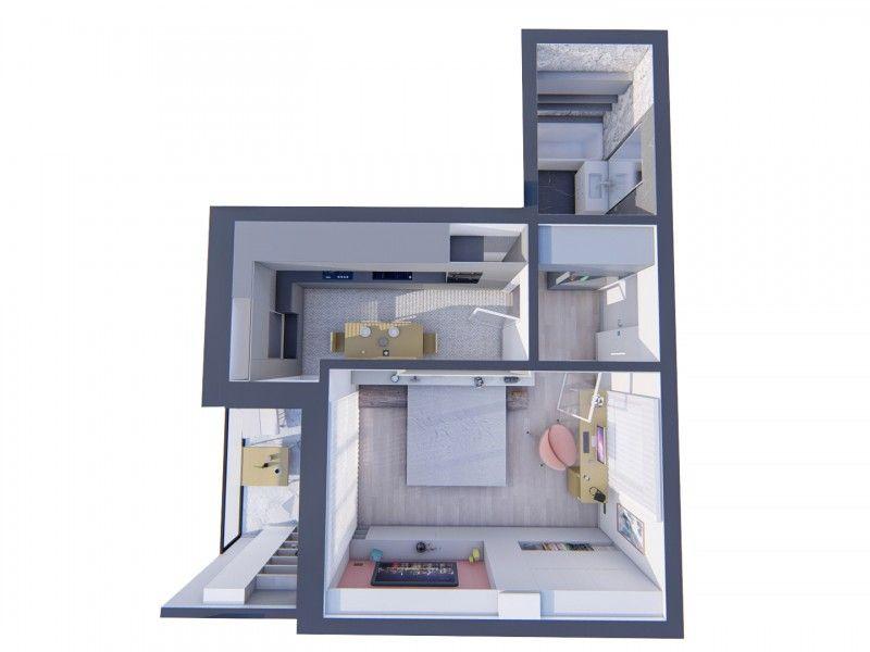 Apartament nou de vanzare, o camera Decomandat  Bucium -14