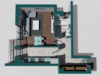 Apartament nou de vanzare, o camera Decomandat  Copou