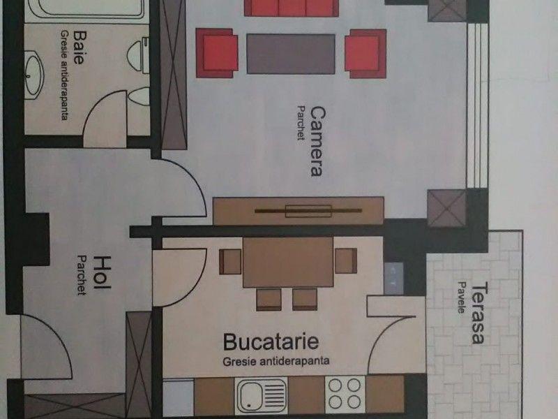 Apartament nou de vanzare, o camera Decomandat  Pacurari -11