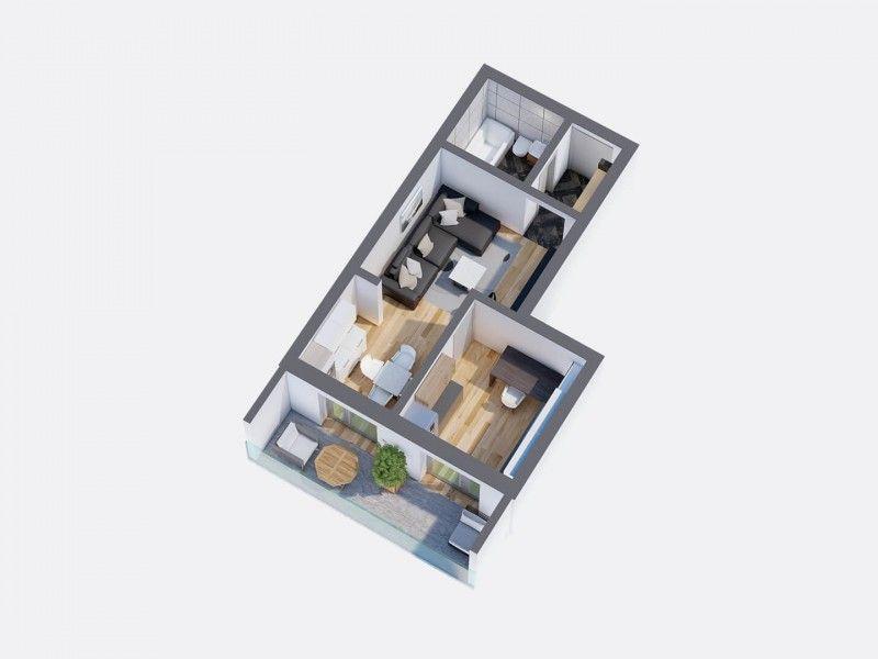 Apartament nou de vanzare, o camera Decomandat  Pacurari -1
