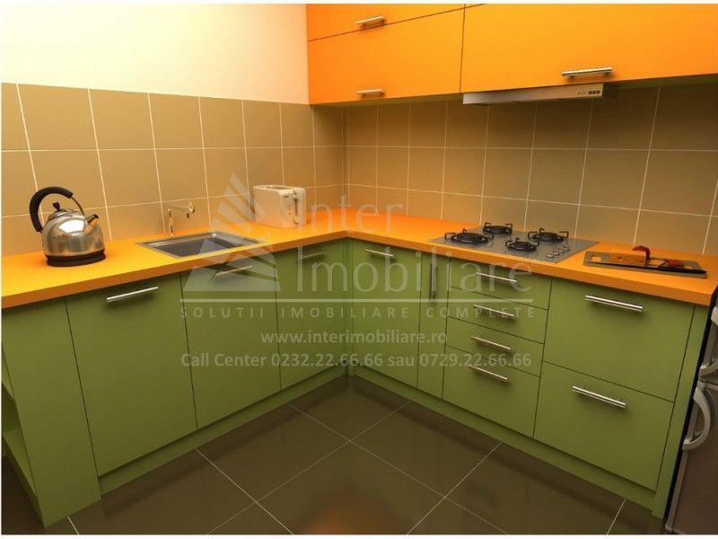 Apartament nou de vanzare, o camera Decomandat  Popas Pacurari -4