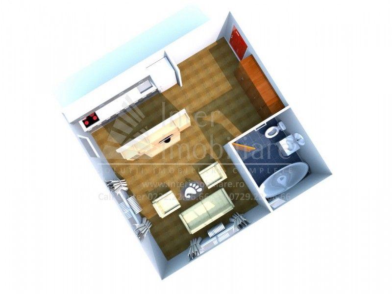 Apartament nou de vanzare, o camera Decomandat  Tatarasi -1